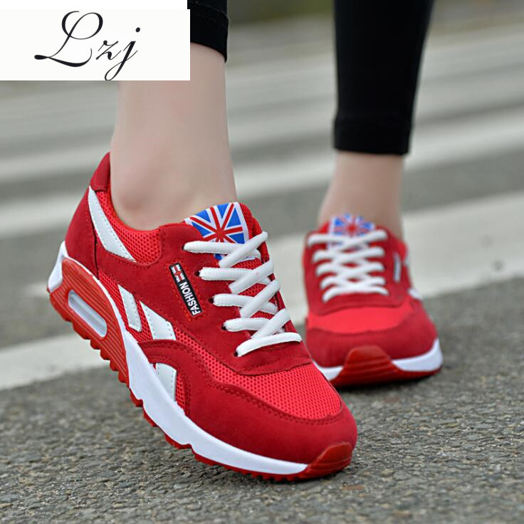 LZJ Sneakers Women New Breathable Spring Casual Shoes Basket Flats Female Platform Shoes Woman Trainers Shoes Chaussure Femme