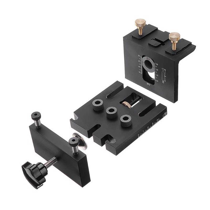 Gabarit de positionnement de poinçon 3 en 1 6/8/10/15mm forage pour meubles Kit de guidage de foret à bois de connexion rapide