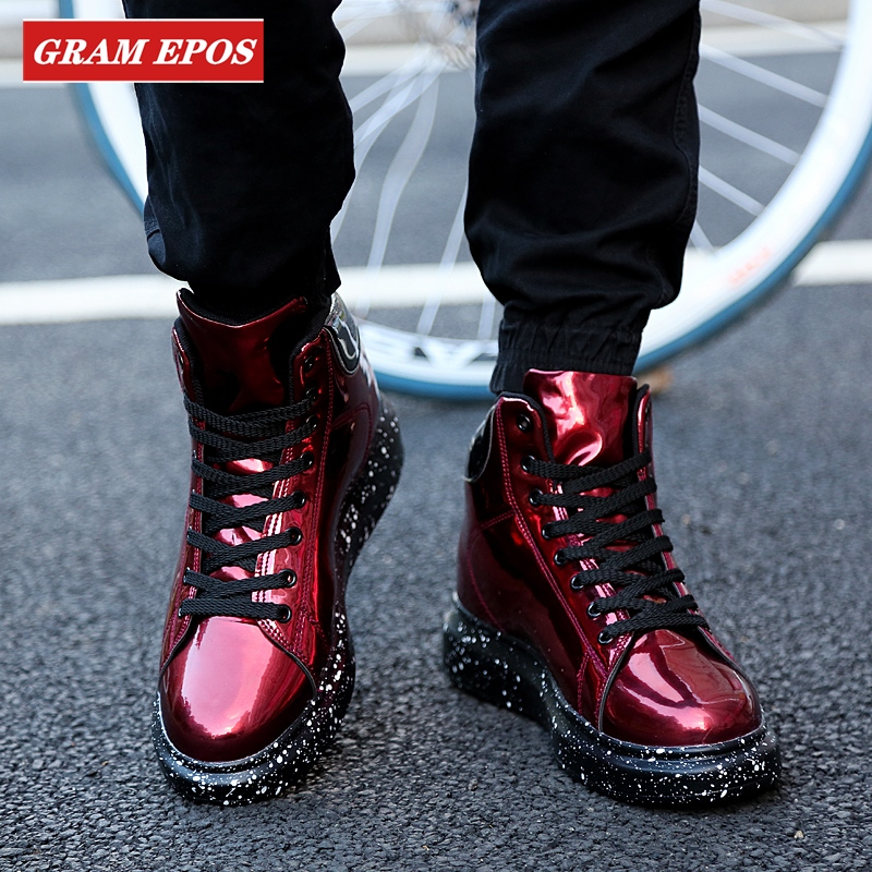 New Hot Lovers Thick Sole Shoes Trendy Men Sneakers Damping Breathable Trainers Men Shoes Casual Lace-Up Brand Men's Boots Men