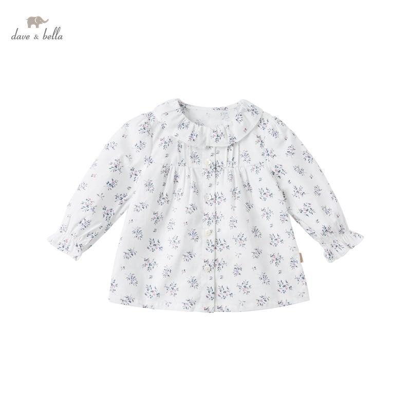 DBJ16970 1 нижнее белье в стиле бренда dave bella/комплект весенней модной одежды для маленьких девочек рубашка с цветочным рисунком для младенцев; Топы для детей ясельного возраста; Детская одежда высокого качества|Блузки и рубашки| | АлиЭкспресс