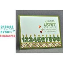 От 0 до 9 Арабский в форме цифр трафарет для резки металла скрапбукинга