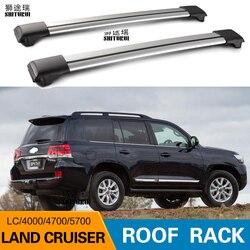 2 sztuk belki dachowe dla Toyota LAND CRUISER 2700 5700 4700 LC200 LC150 lc90 ze stopu aluminium ze stopu aluminium relingi boczne poprzeczny bagażnik dachowy bagaż