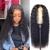 Pelucas afro rizadas al por mayor, peluca de cabello humano 4x4 con cierre de encaje, peluca con diadema, pelucas de cabello humano brasileñas con encaje frontal para mujer