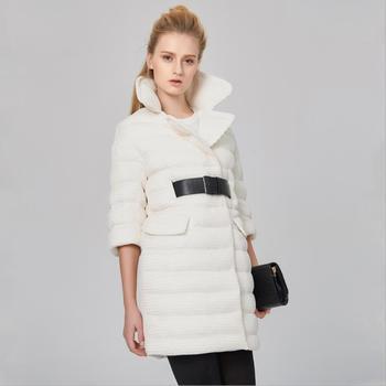 Winter Plus size 90% white duck down thicker warm coat Fashion female long thicker warm fashion brand EVA down coat wj1585