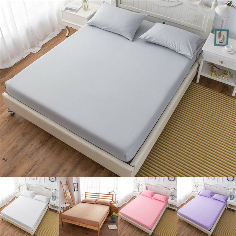 Fitted Sheets Bed Sheet Pillowcases Bedding Cover Deep Pocket Full King Queen