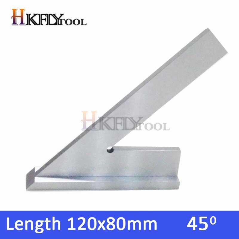 DNI875/2 100*70mm 150x100mm intentar maquinista cuadrado con Base de 45 grados de acero base ancha Plaza herramienta de medir, regla pinza