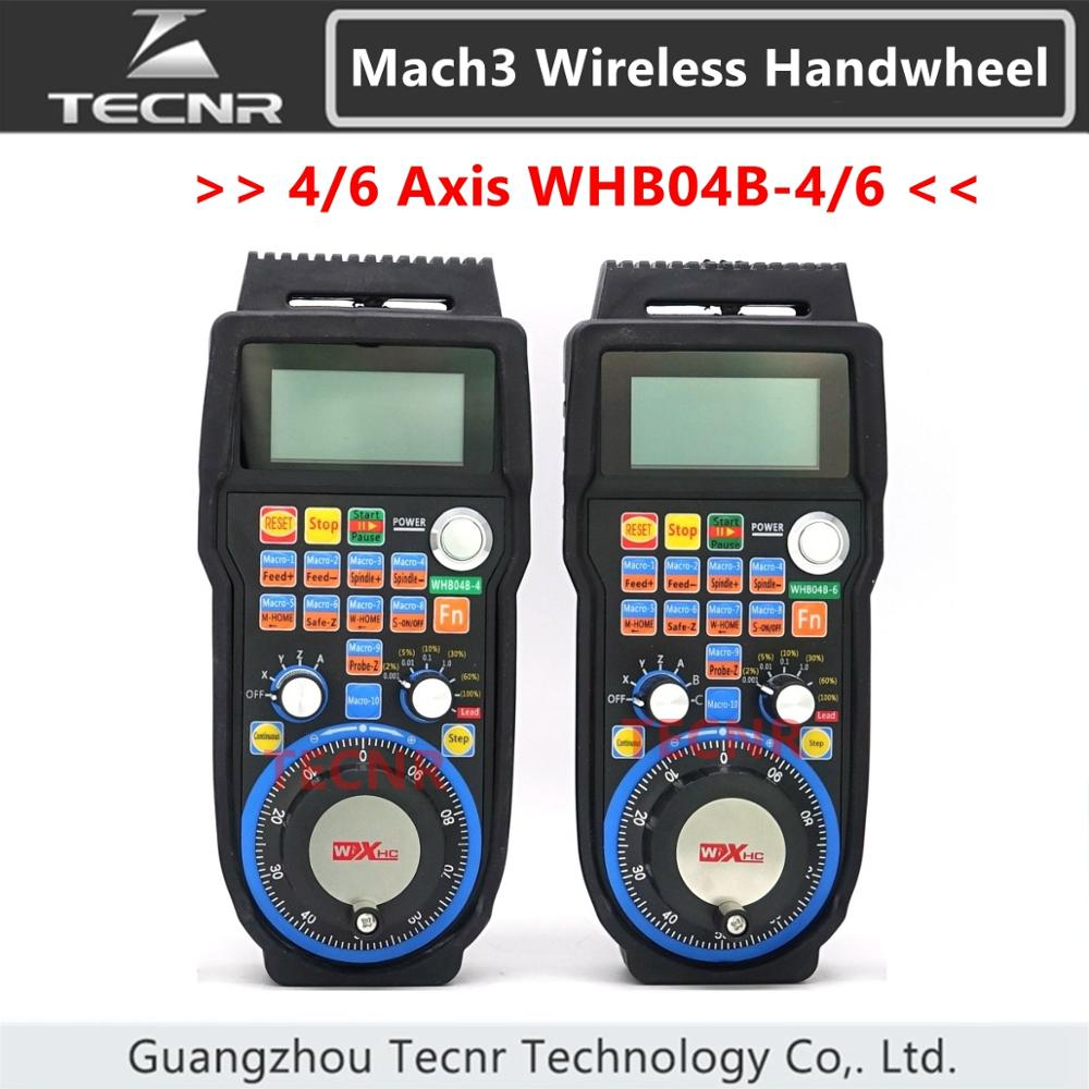 XHC CNC Handwheel Wireless Mach3 MPG Pendant Handwheel For Milling Machine 4 6 Axis MPG WHB04B-4 WHB04B-6