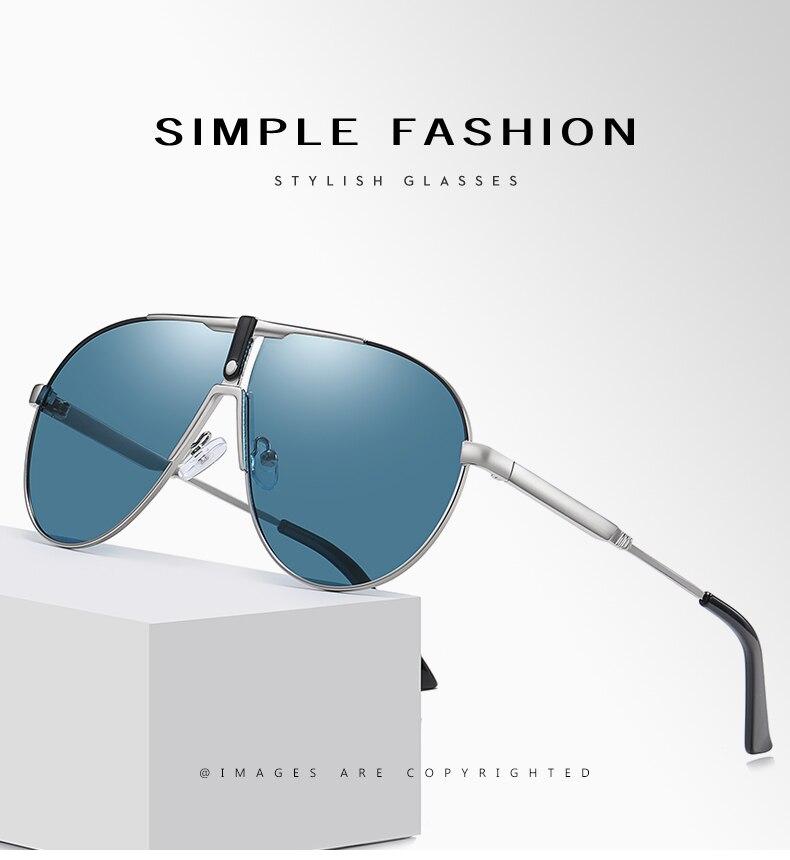 Lm 2021 новые мужские очки поляризационные солнцезащитные авиаторы