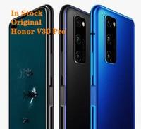 Honor-teléfono inteligente V30 Pro, Original, 5G, 6,57 pulgadas, Kirin 990, ocho núcleos, 8GB, 256GB, 40W, supercargador, Android 10, reconocimiento de huella dactilar