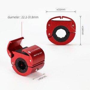 Image 2 - טבעתי Invisible אופניים טלפון מחזיק אלומיניום סגסוגת אופניים נייד טלפון מדפי נייד רכיבה על אופניים טלפון הר אופני אביזרים