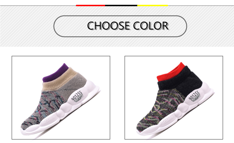 PINSEN 2019 Spring Autumn Children Sneakers Girls Shoes Fashion Kids Shoes Mesh Breathable Child Socks Shoes Boys Casual Shoes (3)