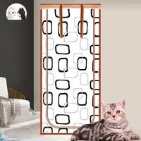 Verhindern Pet Flucht Tür Vorhänge Kein Nagel Partition Katze und Hund Partition Net Kunststoff Vorhang Tür Abschirmung Mesh Moskito Net
