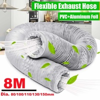 New 8M Flexible Exhaust Vent Hose Tube Air Conditioner Window Vent Pipe 150/130/110/100/80mm|Air Conditioner Parts| |  -