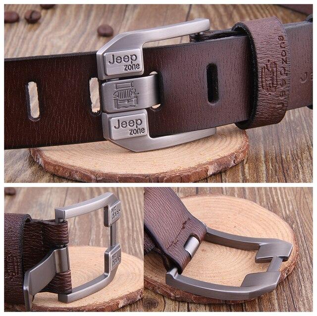 Luxury Vintage Genuine Leather Metal Pin Belt 4
