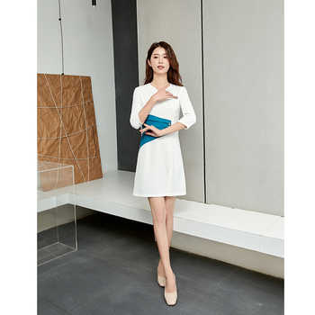 Stewardess fashion beautician beauty salon working clothes woman Receptionist Business atmosphere