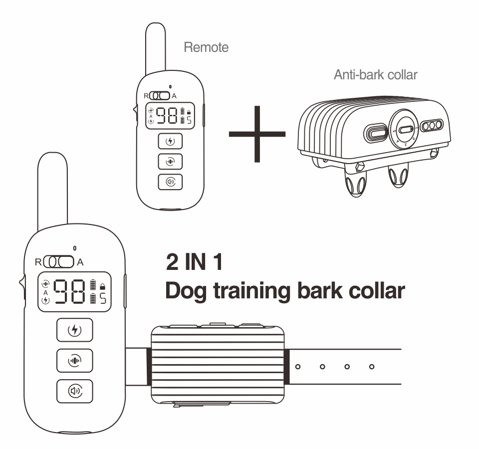 2nd Dog training bark collar DB500