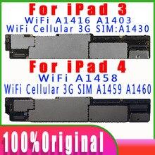 A1458 A1459 A1460 עבור iPad 4 האם A1416 1403 1430 עבור iPad 3 לוח האם כל מקורי סמארטפון לא iCloud של היגיון לוח