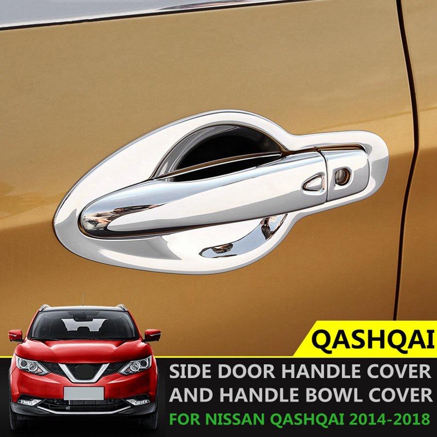 DLDBB Modification 2pcs ABS front chrome headlight decoration frame ornaments car style accessories,for Nissan Qashqai 2016-2018