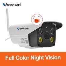 Vstarcam 1080P Camera CCTV Chống Nước Ngoài Trời Màu Tầm Nhìn Ban Đêm Camera An Ninh Hồng Ngoại Bulllet Camera Gắn Trong mic