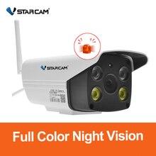 Vstarcam 1080P Wifi kamera CCTV su geçirmez açık tam renkli gece görüş güvenlik kamera kızılötesi mermi kamera dahili mikrofon