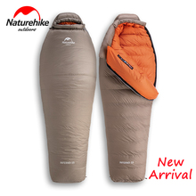 Naturehike  21 ℃ 熱クライミングシリーズミイラ寝袋グースダウン 750FP肥厚冬暖かい寝袋ハイキング防水