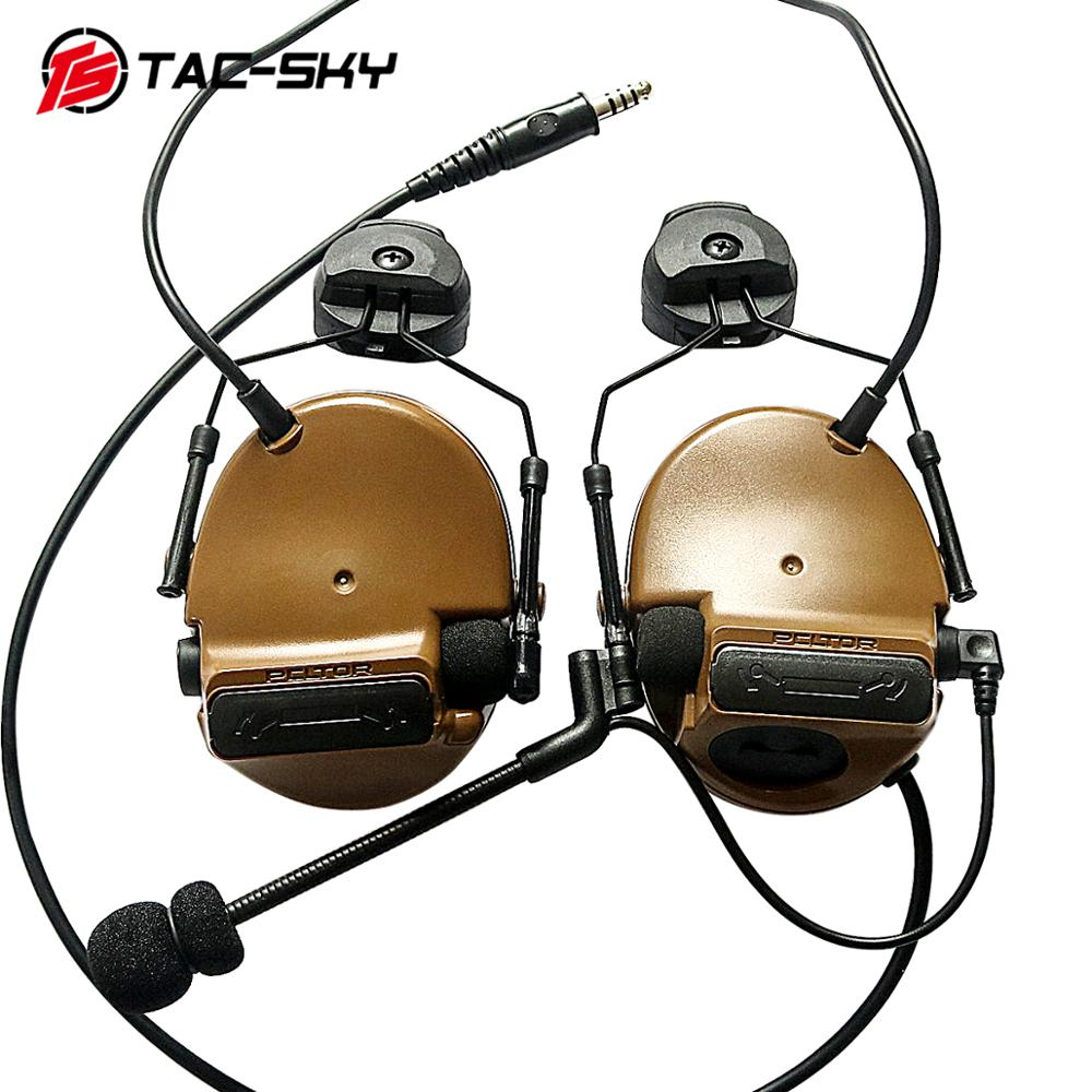 TAC SKY COMTAC III helmet bracket silicone earmuff version outdoor sports noise reduction pickup military tactical headset CB-in Ear Protector from Security & Protection