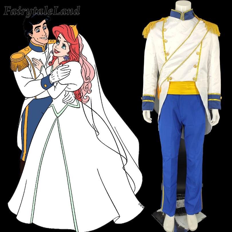 The Little Mermaid Princess Ariel Eric Prince Men Costumes Cosplay Halloween