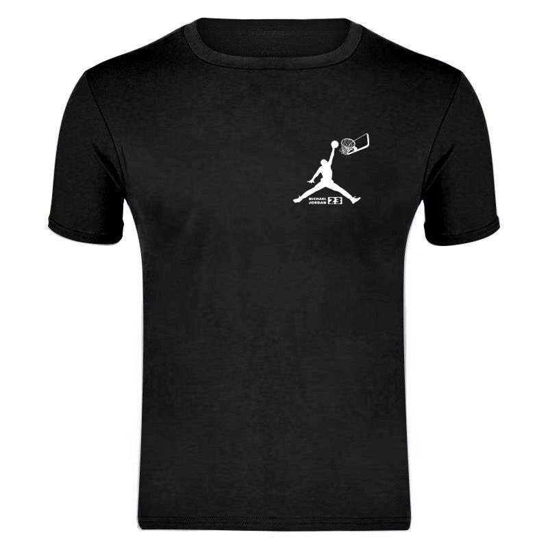 2019 New Mens T Shirt Round Neck Summer Fashion Tees Male T-Shirt Male Tops Cotton Print Boys T Shirt Black High Quality 3XL