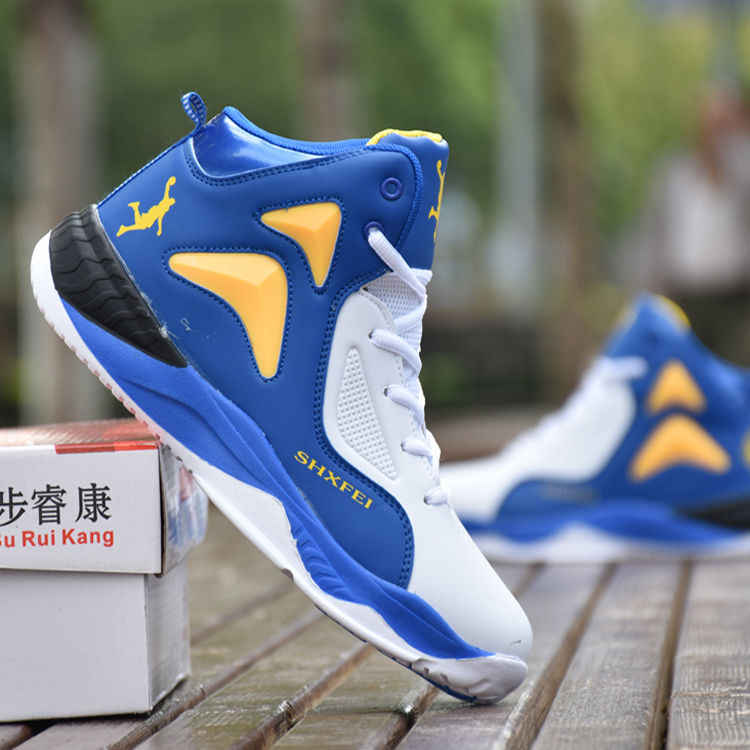 Hot Koop blue Basketbal Schoenen Comfortabele Hoge Top Training Laarzen Enkellaarsjes Outdoor Mannen jordan Sneakers Athletic Sport shoe