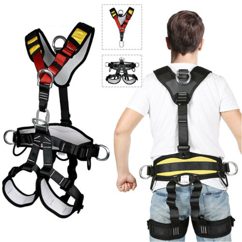 Mountaineering Downhill Safety Belt Aerial Work Protection Equipment Outdoor Expansion Rappelling Climbing Belt Fullbody Harness