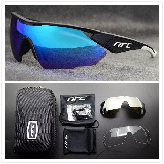 Nrc marca superior ciclismo óculos de bicicleta dos homens uv400 ciclismo óculos de sol gafas tr90 mtb estrada esportes óculos de sol 2