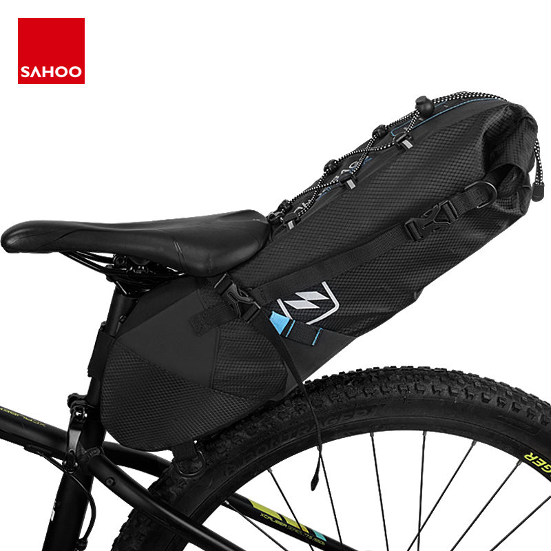 SAHOO Bicycle Saddle Bag WaterproofSeat Storage Tail Pouch Cycling Bike Rear Bag