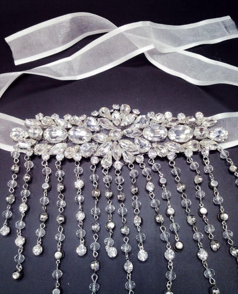 Neue Braut Armband Wassertropfen Stil Ketten Kristall Armband Schmuck - Modeschmuck - Foto 5