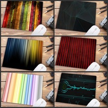 XGZ Cool Colorful Lines Mouse Pads Notbook Computer Gaming Mousepad Gamer To Key