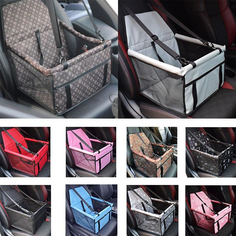 Pet carriers cão assento do carro capa de transporte para cães gatos esteira cobertor traseiro volta protetor de rede transportin saco de assento à prova dwaterproof água