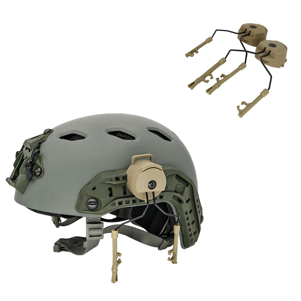 ARC Rail Adapter Helmet Headset Left & Right Side Attachments For Peltor Comtac I II III Tactics Headphones,1 Pair