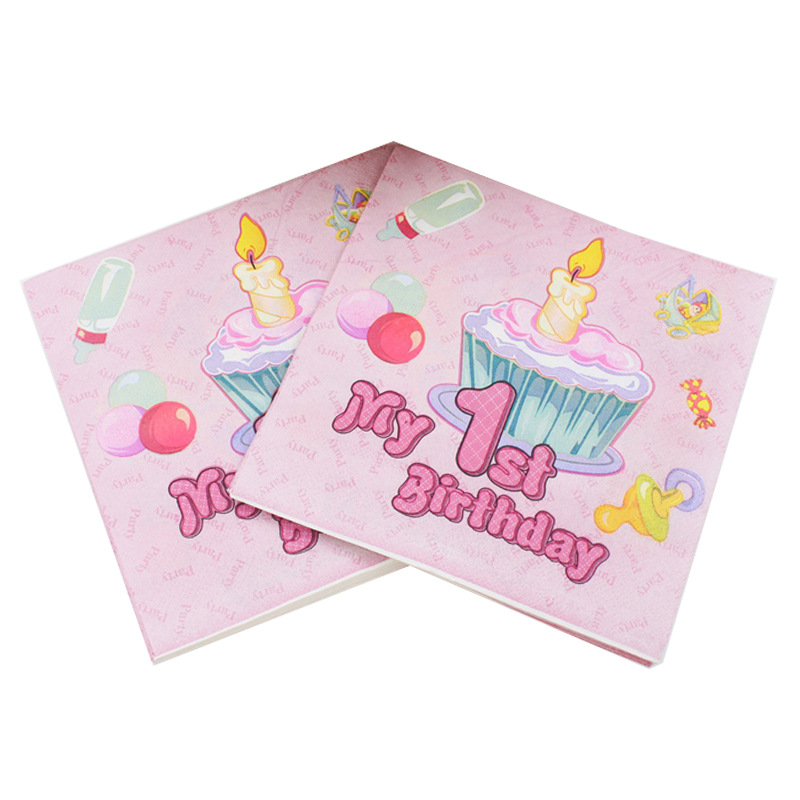 [Currently Available] Color Printed Napkin Birthday Party Paper Tissue Paper Creative Tissue Napkin