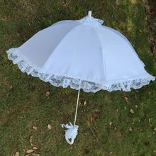 Parasol Umbrella Decorative Bridal Wedding Lace White Photo-Props Flower-Girl Romantic