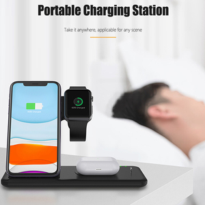 Image 5 - 4in1 Qi Wireless Charge Station Foldable Base 15W Fast Wireless Charging for Samsung S20 S10 Huawei Apple iWatch 5 4 3 Airpods 2