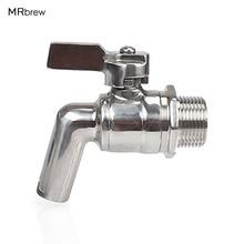 Stainless Steel Beer Keg Faucet Tap 200PSI For HomeBrew Barrel Fermenter Wine Beer Beverage Juice Dispenser Spigot Drink 1/2''