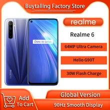 100% Original Global Version Realme 6 MobilePhone 8GB 128GB 6.5 inch Helio G90T Octa Core 64MP Ultra Camera NFC Russia Version