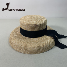Top-Hat Lace Uv-Protection Wide-Brim Black White Women's Summer Big Soft Straw with And