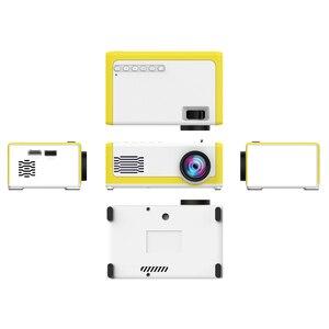 Image 2 - Neue Tragbare Full HD Mini Projektor 1920*1080P Unterstützung AV USB SD Karte USB 1800 Lumen Mini Hause projektor Tragbare Beamer