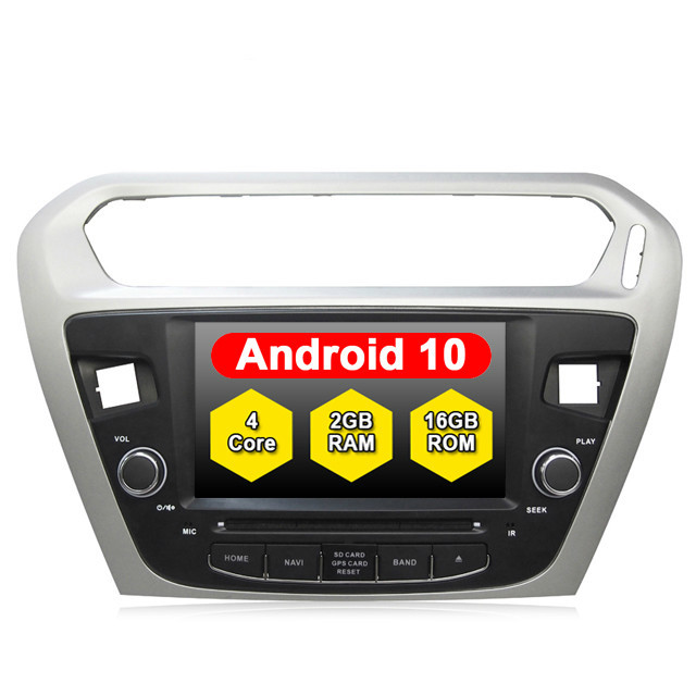 CAR Audio System ANDROID 10.0 FOR CITROEN ELYSEE PEUGEOT 301 <font><b>Autoradio</b></font> Stereo 2din <font><b>Gps</b></font> Tape Recorder Radio Multimedia Player DVD image