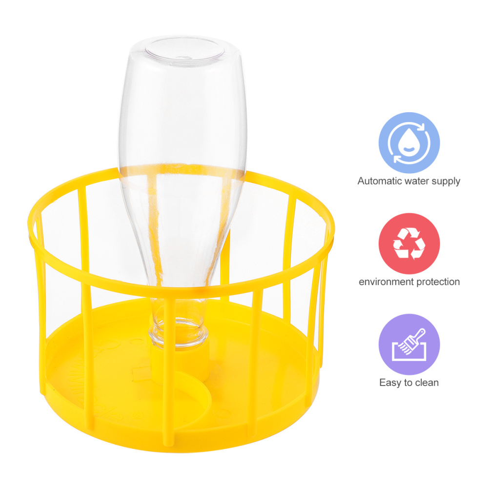 Reptile Water Feeder Pet Feeding Supplies Food Bowl for Lizard Turtle (Yellow)