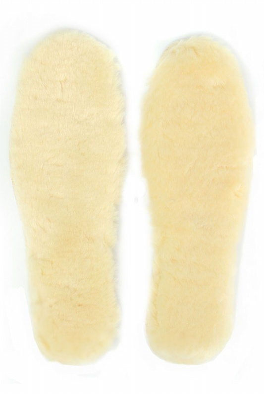 BEAU-Men Women Sheepskin Insoles Pads Replacement For Winter Shoes Boots Rainboots Yellow