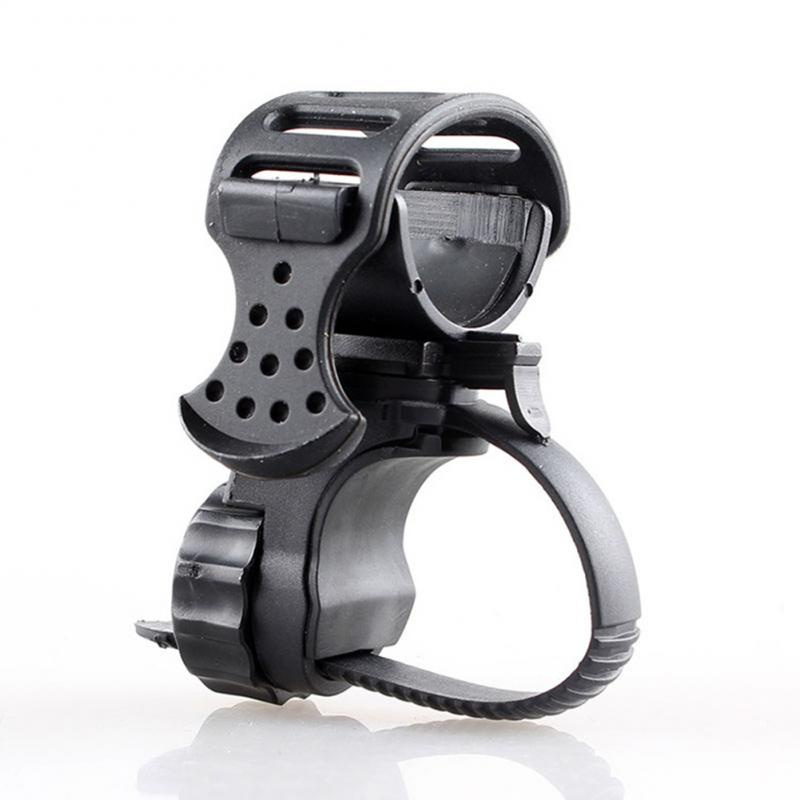 360 Degree Bike Bicycle Flashlight Torch Mount Holder Front Light Bracket Adjustable Light Lamp Holder Clip Bike Accessories