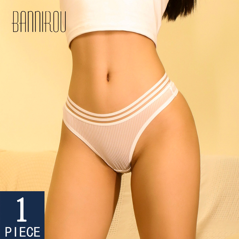 Cotton Underwear For Woman 1 Piece Panties G-string Thongs Female Panties Thongs Woman Sexy High Quality 2020 New M-XL BANNIROU
