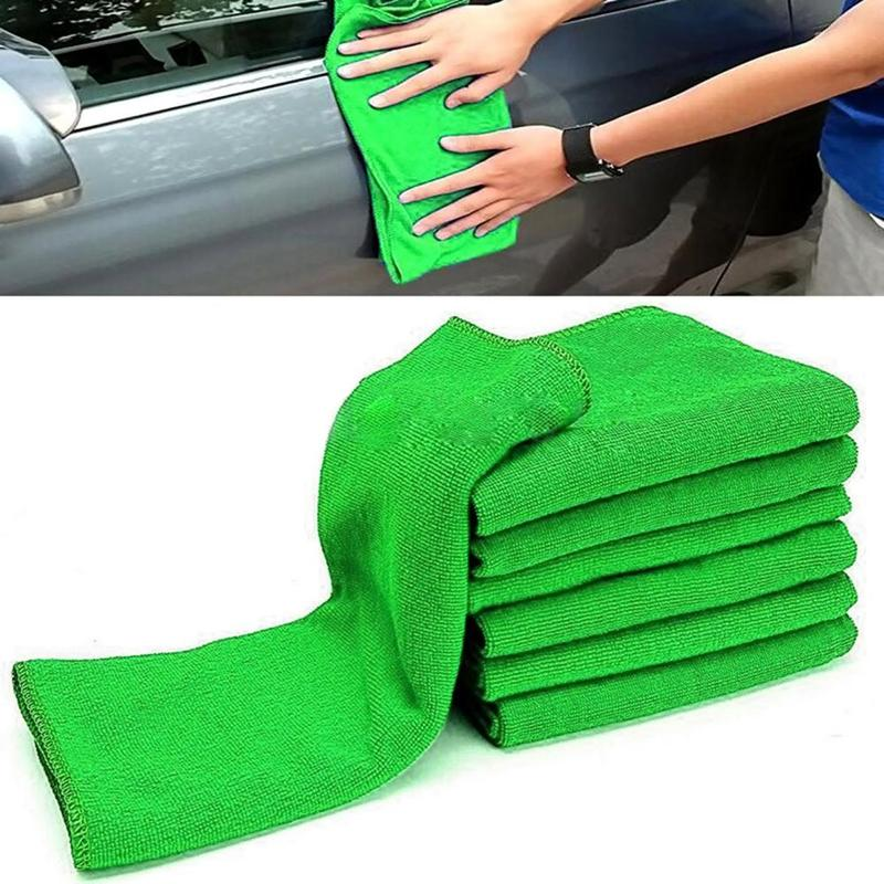 1pcs Car Cleaning Towel Soft Microfiber Cleaning Small Square Towel Water Absorption Anti-static Car Wash Cleaning Towel 30x30cm
