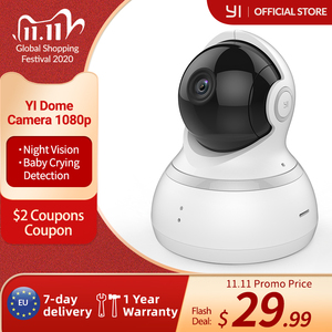 Image 1 - YI Dome Camera 1080p HD Cloud &Memory Card 360 camera Pan/Tilt Zoom IP Camera Home Security Surveillance System Night Vision